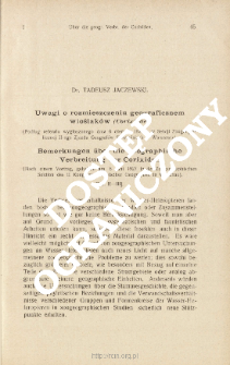 Uwagi o rozmieszczeniu geograficznem wioślaków (Corixidae) : (Podług referatu wygłoszonego dnia 6 czerwca 1927 r. w Sekcji Zoogeograficznej II-ego Zjazdu Geografów Słowiańskich w Warszawie)