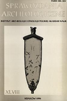 Sprawozdania Archeologiczne T. 48 (1996), Omówienia i recenzje