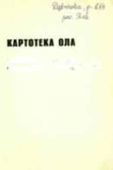 Kartoteka Ogólnosłowiańskiego atlasu językowego (OLA); Dąbrówka (264)