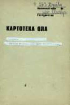 Kartoteka Ogólnosłowiańskiego atlasu językowego (OLA); Dywity (263)