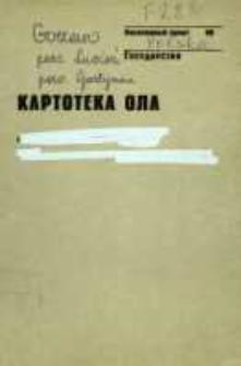 Kartoteka Ogólnosłowiańskiego atlasu językowego (OLA); Gorzewo (283)
