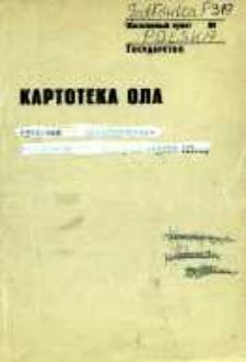 Kartoteka Ogólnosłowiańskiego atlasu językowego (OLA); Jodłówka (319)