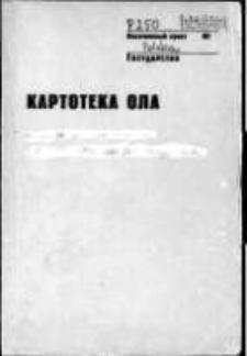 Kartoteka Ogólnosłowiańskiego atlasu językowego (OLA); Krzywogoniec (250)