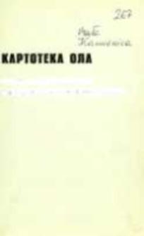 Kartoteka Ogólnosłowiańskiego atlasu językowego (OLA); Mała Kamienica (267)