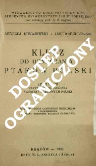 Klucz do oznaczania ptaków Polski
