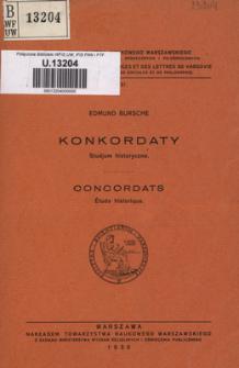 Konkordaty : studjum historyczne