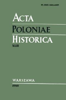 Acta Poloniae Historica. T. 42 (1980), Comptes rendus