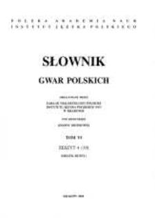 Słownik gwar polskich. T. 6, Z. 4 (19), (Drużni-Dużny)