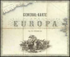 General-Karte von Europa in 25 Blättern. [Blatt] 1, [Titel]