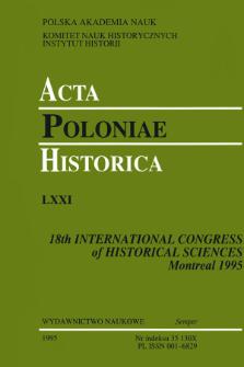Bibliographie sélective des traveaux des historiens polonais parus en langues étrangères dans les années 1988-1993