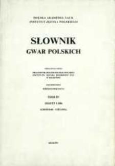 Słownik gwar polskich. T. 4 z. 1 (10), Choiniak-Chylma
