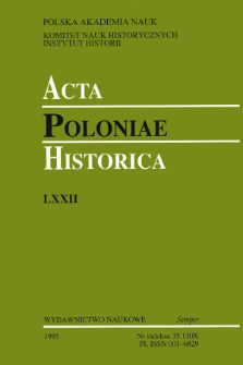 Acta Poloniae Historica. T. 72 (1995), Abstracts