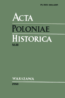 Acta Poloniae Historica. T. 42 (1980), Title pages, Contents