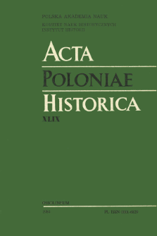 Acta Poloniae Historica. T. 49 (1984), Title pages, Contents