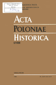 Acta Poloniae Historica. T. 58 (1988), Strony tytułowe, Spis treści