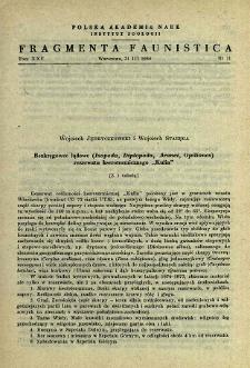 """Bezkręgowce lądowe (Isopoda, Diplopoda, Aranei, Opiliones) rezerwatu kserotermicznego """"Kulin"""""""