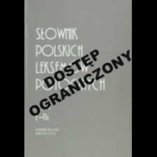 Słownik polskich leksemów potocznych. T. 5, Ł-Na