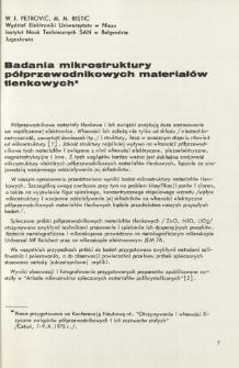 Badania mikrostruktury półprzewodnikowych materiałów tlenkowych