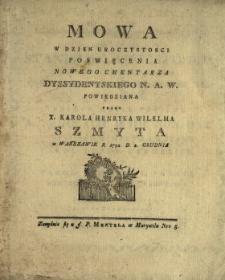 Mowa W Dzien Uroczystosci Poswięcenia Nowego Cmentarza Dyssydentskiego N. A. W.