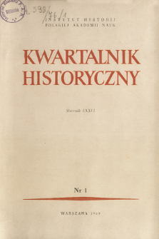 Kwartalnik Historyczny R. 76 nr 1 (1969), In memoriam