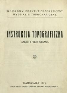 Instrukcja topograficzna. Cz. 2, Techniczna