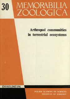 Arthropod communities in terrestrial ecosystems