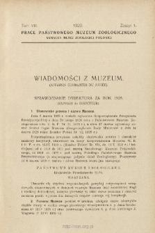 Sprawozdanie dyrektora za rok 1928