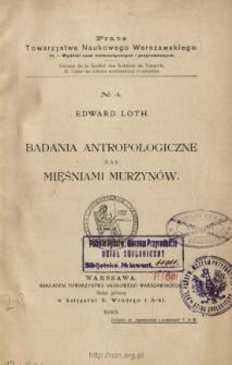 Badania antropologiczne nad mięśniami Murzynów