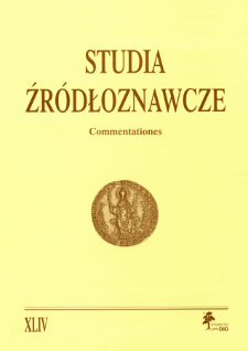 Studia Źródłoznawcze = Commentationes T. 44 (2006), Zapiski krytyczne i sprawozdania