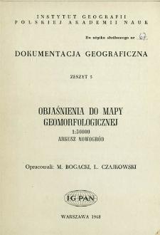 Objaśnienia do mapy geomorfologicznej 1:50 000 : arkusz Nowogród