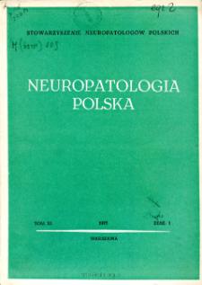 Neuropatologia Polska T.11 z.1(1973)