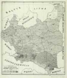 Mapa gęstości domów wiejskich w Polsce w r. 1921