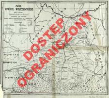 Mapa powiatu wołkowyskiego : skala 1:300 000