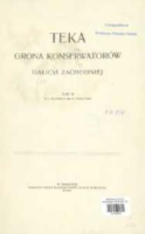 Teka Grona Konserwatorów Galicyi Zachodniej T. 3 (1909)