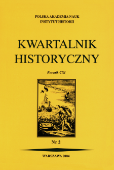 Kwartalnik Historyczny R. 111 nr 2 (2004), Title pages, Contents