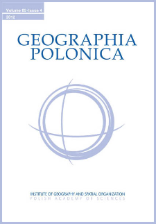 Geographia Polonica Vol. 85 No. 4 (2012), Contents