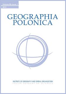 Geographia Polonica Vol. 86 No. 1 (2013), Contents