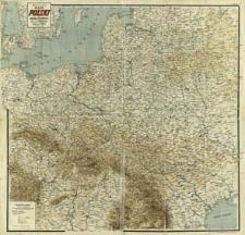 Mapa Polski i krajów ościennych