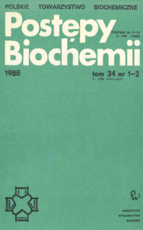 Postępy biochemii, Tom 34, Nr 1-2