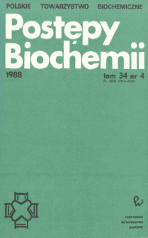 Postępy biochemii, Tom 34, Nr 4