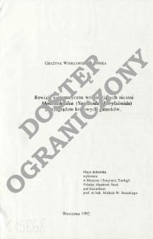 Rewizja systematyczna wolnożyjących nicieni Mononchoidea (Nematoda: Dorylaimida) z przeglądem krajowych gatunków