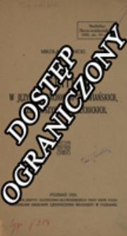 Metateza w językach zachodnio-słowiańskich, przedewszystkiem lechickich