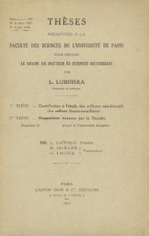 Contribution á ĺ étude des reflexes non-itératifs /Le reflexe linguo-maxillaire. Teza doktorska