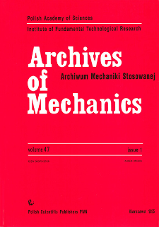 Archives of Mechanics Vol. 47 nr 1 (1995)