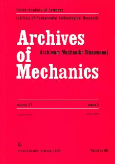 Archives of Mechanics Vol. 47 nr 2 (1995)