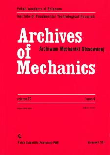 Archives of Mechanics Vol. 47 nr 4 (1995)