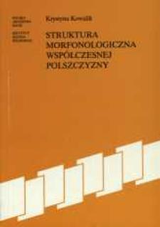 Struktura morfonologiczna współczesnej polszczyzny
