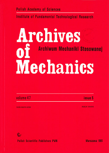 Archives of Mechanics Vol. 47 nr 5 (1995)