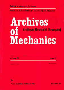 Archives of Mechanics Vol. 47 nr 6 (1995)