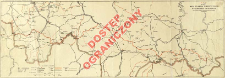 Mapa szlaków turystycznych w Beskidach Zachodnich